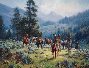 Martin Grelle-Monarchs Of The North By Martin Grelle Giclee On Canvas  Signed & Numbered