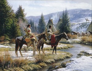 Martin Grelle-Morning Vigil By Martin Grelle Giclee On Canvas  Grande Edition