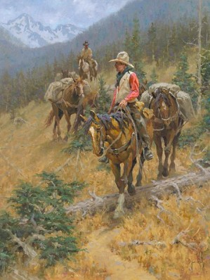 Jim  Rey-Mountain Trail By Jim Rey Giclee On Canvas  Signed & Numbered