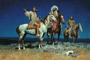 David Mann-Night Signs By David Mann Giclee On Canvas  Signed & Numbered