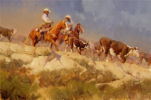 Bill Anton-Off The Rimrock By Bill Anton Giclee On Canvas  Signed & Numbered