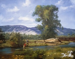 James Brett Smith-Paradise Valley By Brett James Smith Print  Signed & Numbered