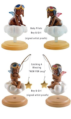 Thomas Blackshear-Baby Pilots Series AP Artist Signed (set of 4)