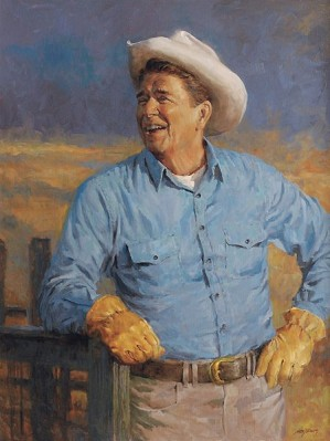 Andy Thomas-Reagan By Andy Thomas Giclee On Canvas  Grande Edition
