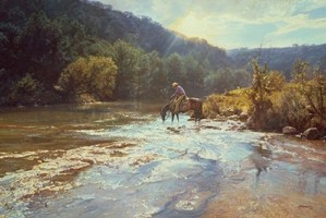 Bob Wygant-Refreshing Moment By Bob Wygant Giclee On Canvas  Signed & Numbered