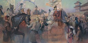 HongNian Zhang-Return Of Zhang Qian By Hongnian Zhang Giclee On Canvas  Grande Edition
