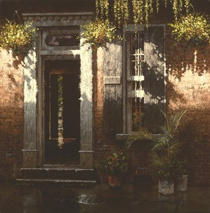 George Hallmark-Rue Dauphine ~ New Orleans By George Hallmark Giclee On Canvas  Signed & Numbered