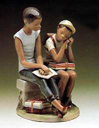 Lladro Black Legacy-School Chums