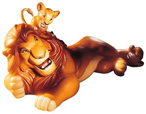 WDCC Disney Classics-The Lion King Simba And Mufasa Pals Forever