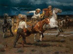 Andy Thomas-Stampede! Stampede! By Andy Thomas Giclee On Canvas  Signed & Numbered