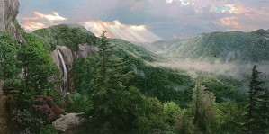 Phillip_Philbeck-Sunset Over The Gorge By Phillip Philbeck Giclee On Canvas  Signed & Numbered