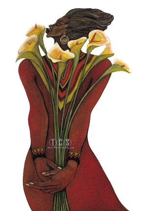 Charles Bibbs-Sweet Lilies Artist Proof Remarque