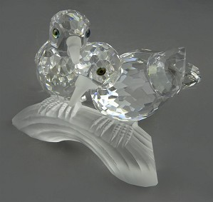 Swarovski Crystal-Swarovski Turtle Doves 1989 Caring And Sharing