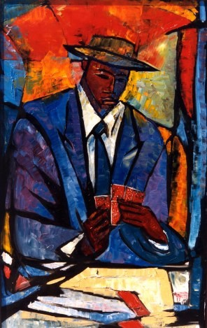 William Tolliver-The Player Ap Artist Signed Lithograph