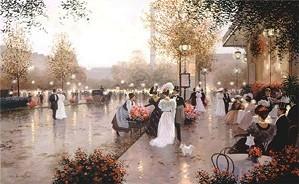 Christa Kieffer-The Flower Cart By Christa Kieffer Canvas  Signed & Numbered