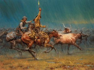 Andy Thomas-The Wild Ones By Andy Thomas Giclee On Canvas  Artist Proof