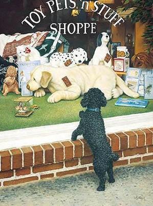 Tom Sierak-The Toy Shopper Canvas Giclee