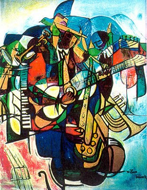 William Tolliver-Transcendent Of The Blues Signed By Artist Serigraph