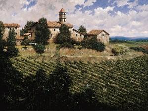 George Hallmark-Tuscan Sun By George Hallmark  Full Image Giclee On Canvas  Signed & Numbered
