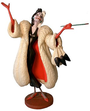 WDCC Disney Classics-One Hundred and One Dalmatians Cruella De Vil Anita Daahling