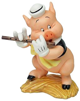 WDCC Disney Classics-Three Little Pigs Fifer Pig I Toot My Flute I Don't Give A Hoot