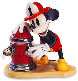 WDCC Disney Classics-Mickey's Fire Brigade Mickey Mouse Fireman To The Rescue