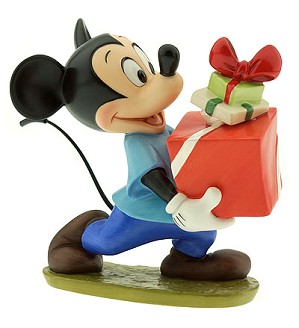 WDCC Disney Classics-Plutos Christmas Tree Mickey Presents For My Pals