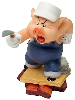 WDCC Disney Classics-Three Little Pigs Practical Pig Work And Play Don't Mix