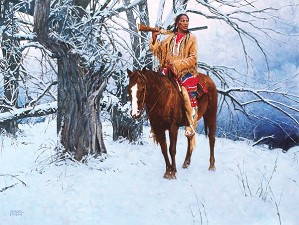 David Mann-Winter Stillness By David Mann Giclee On Canvas  Artist Proof