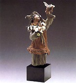Lladro-Goyescas Harlequin With Dove 1988-93