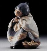 Lladro-Oriental Flower Vendor 1985-94 ***