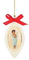 Ebony Visions-Bunny Hug Ornament Porcelain