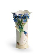 Franz Porcelain-Long tail hummingbird vase