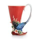 Franz Porcelain-Joyful Magpie small vase