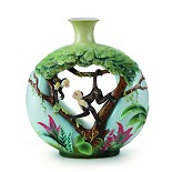 Franz Porcelain-Jungle Fun monkey large vase