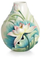 Franz Porcelain-Peaceful Lotus flower small vase