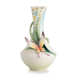 Franz Porcelain-Papillon butterfly small vase