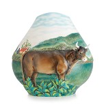 Franz Porcelain-Landscape with Cattle mid size vase