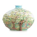 Franz Porcelain-Van Gogh White Orchard mid size vase