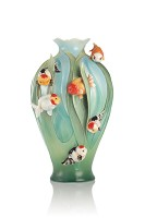 Franz Porcelain-Fertility and Abundance Goldfish vase