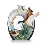 Franz Porcelain-Guardian mallard vase