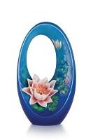 Franz Porcelain-Serene Time water lily vase