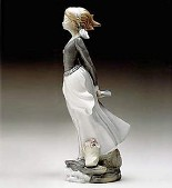 Lladro-Wind Blown Girl