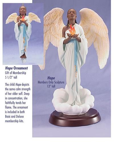 Ebony Visions_Hope - Deluxe  Blackshear Circle 2006 Membership Figurine And Kit