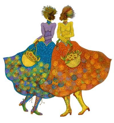 Charles Bibbs_Sunflower Girls Giclee Artist Proof
