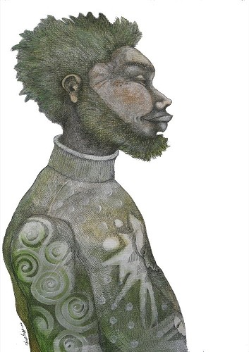 Charles Bibbs_Man With Green Hair