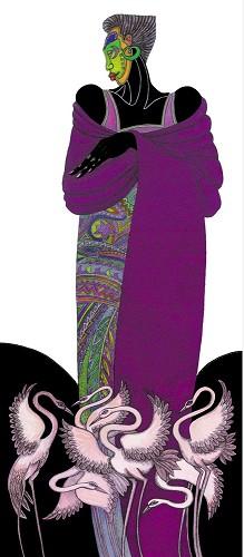 Charles Bibbs_Ebony Series 8 - Purple Remarque