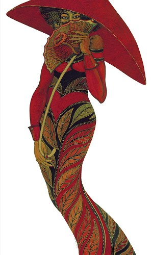 Charles Bibbs_The Red Umbrella -Limited Edition