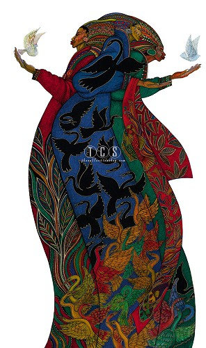 Charles Bibbs_The Gift 5 Giclee With Remarque #74