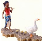 Ebony Visions - Gertie With Geese Signed Gallery Proof